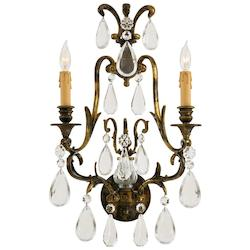 Minka Metropolitan Oxidized Brass 2 Light Candle-Style Wall Sconce