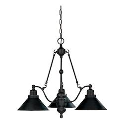 Nuvo Bridgeview - 3 Light 26In. Chandelier