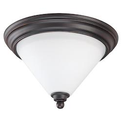 Nuvo Bridgeview - 1 Light 11In. Flush Dome - Satin White Glass