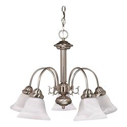 Nuvo Ballerina - 5 Light - 24In. - Chandelier - W/ Alabaster Glass Bell S