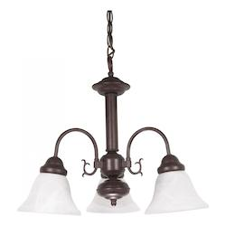Nuvo Ballerina - 3 Light - 20In. - Chandelier - W/ Alabaster Glass Bell S