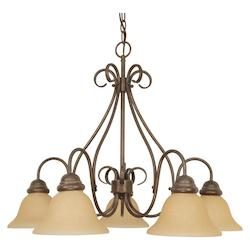 Nuvo Castillo - 5 Light - 28In. - Chandelier - W/ Champagne Linen Washed