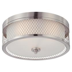 Nuvo Fusion - 3 Light Flush Dome Fixture W/ Frosted Glass