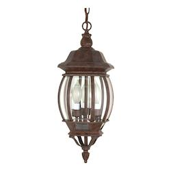 Nuvo Central Park - 3 Light - 20In. - Hanging Lantern - W/ Clear Beveled