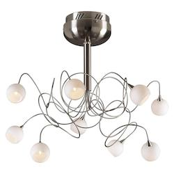 PLC Lighting 9 Light Ceiling Light Fusion Collection