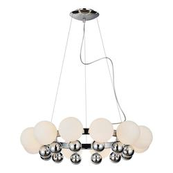 PLC Lighting 12 Light Chandelier Pluto Collection