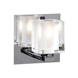 PLC Lighting 1 Light Sconce Glacier Collection