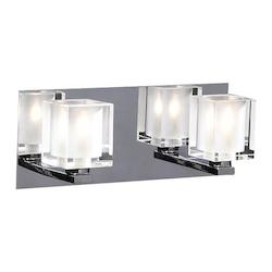 PLC Lighting 2 Light Vanity Glacier Collection