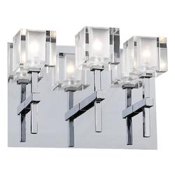 PLC Lighting 3 Light Sconce Din.Oro Collection