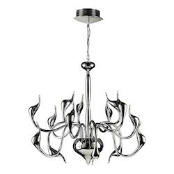 PLC Lighting 15 Light Chandelier Swan Collection