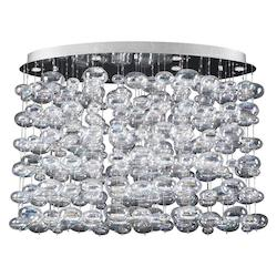 PLC Lighting 12 Light Chandelier Bubbles Collection
