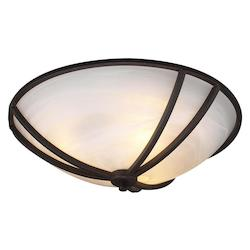 PLC Lighting 3 Light Ceiling Light Highland Collection