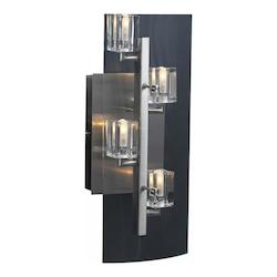 PLC Lighting 4 Light Sconce Ice Cube Collection