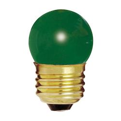 Satco Products Inc. 7.5 Watt; S11; Ceramic Green; 2500 Average Rated Hours; Medium Base; 1