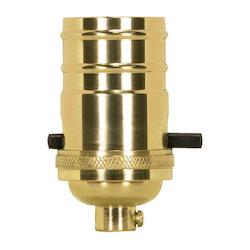 Satco Products Inc. Pl Cast Brass Push Thru Skt