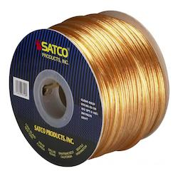 Satco Products Inc. Spool Wire 18/2 Spt2 105° Clear/Gold 250In.