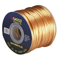 Satco Products Inc. Spool Wire 18/2 Spt1 105° Clear/Gold 250In.