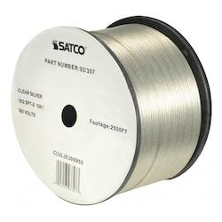 Satco Products Inc. 18/2 Spt-2 Cl Silver 2500 Ft. Spool