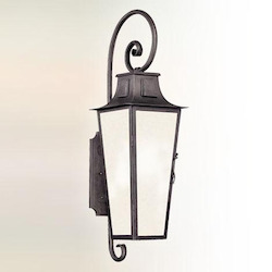 Troy One Light Aged Pewter Wall Lantern