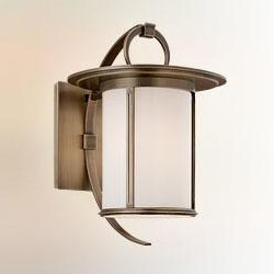 Troy One Light Antique Brass Wall Lantern