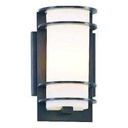 Troy One Light Architectural Bronze Outdoor Wall Light