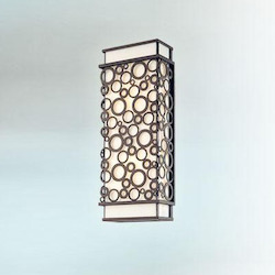 Troy Two Light French Iron Outdoor Wall Light