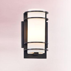 Troy One Light Brushed Aluminum Outdoor Wall Light