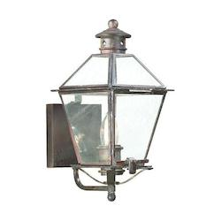 Troy One Light Natural Aged Brass Wall Lantern