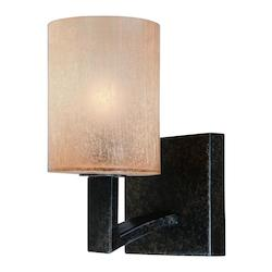 Troy One Light Antique Bronze Bathroom Sconce