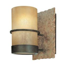 Troy One Light Bamboo Bronze Bathroom Sconce