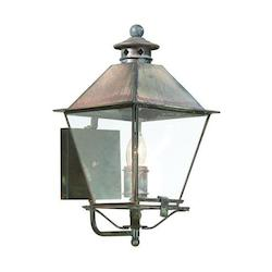 Troy One Light Charred Iron Wall Lantern