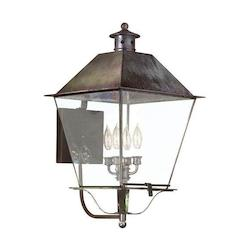 Troy Four Light Charred Iron Wall Lantern