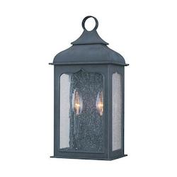 Troy Two Light Colonial Iron Wall Lantern