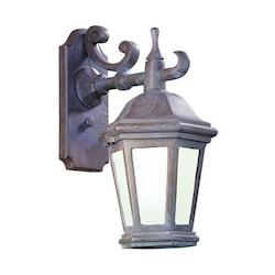 Troy One Light Matte Black Wall Lantern