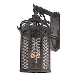 Troy Four Light Old Iron Wall Lantern