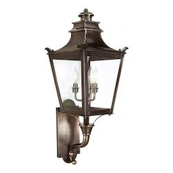 Troy Three Light English Bronze Wall Lantern