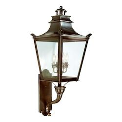 Troy Four Light English Bronze Wall Lantern