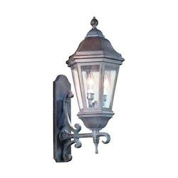 Troy Two Light Antique Bronze Wall Lantern