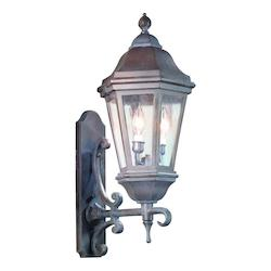 Troy Two Light Bronze Patina Wall Lantern