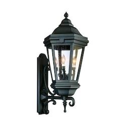 Troy Three Light Antique Bronze Wall Lantern