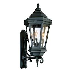 Troy Three Light Matte Black Wall Lantern