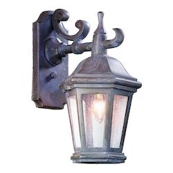 Troy One Light Bronze Patina Wall Lantern