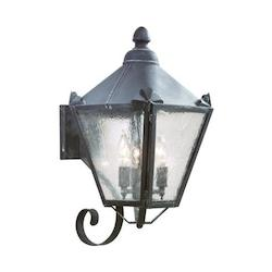 Troy Three Light Natural Rust Wall Lantern