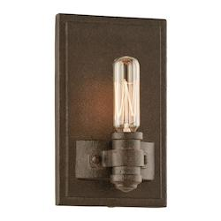 Troy One Light Shipyard Bronze Wall Light