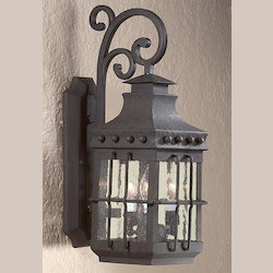 Troy Three Light Natural Bronze Wall Lantern