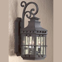 Troy Four Light Natural Bronze Wall Lantern
