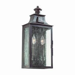 Troy Two Light Old Bronze Wall Lantern