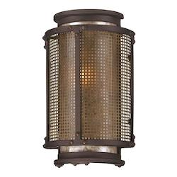 Troy One Light Centennial Rust Outdoor Wall Light