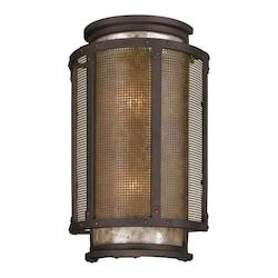 Troy Two Light Centennial Rust Outdoor Wall Light