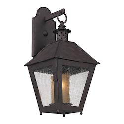 Troy One Light Centennial Rust Wall Lantern